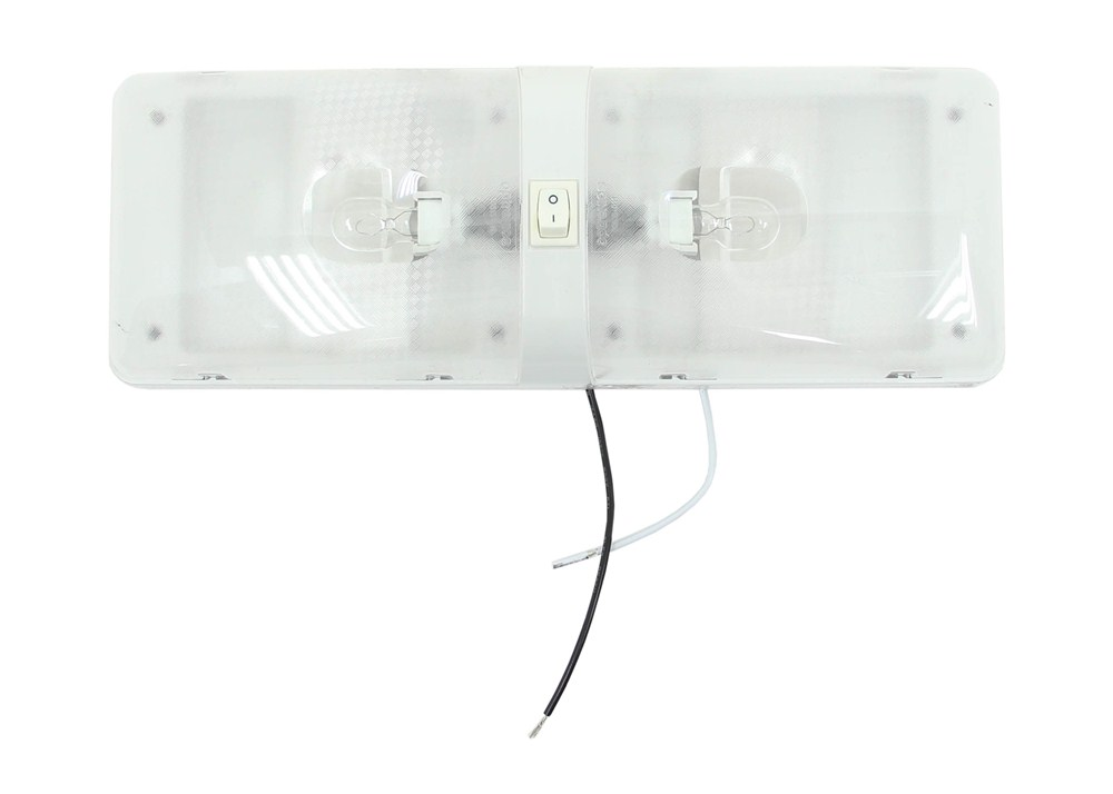 Rv Euro Style Interior Double Ceiling Light With Built In