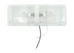 RV Euro Style Interior Double Ceiling Light with Built-In Switch