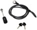 "Anti-Rattle Hitch Lock and Cable for Swagman Bike Racks w/ 1-1/4"" & Combo Shanks - 7'"