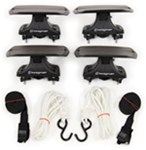 Swagman Coronado Rooftop Kayak Carrier System with Tie-Downs - Saddle Style - Universal Mount