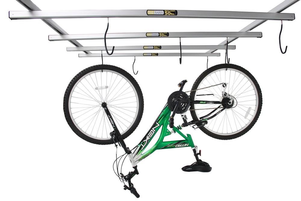saris cycleglide ceiling mounted 4 bike storage system. Black Bedroom Furniture Sets. Home Design Ideas