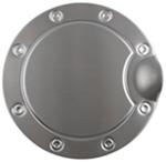 Brushed Stainless Steel Fuel Door Cover