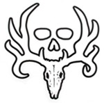 Bone Collector Logo Flat Decal - White - Qty 1