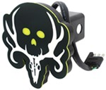 "Bone Collector Plastic Hitch Cover - 2"" Hitches - Black and White - Green LEDs"