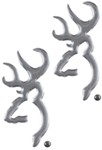 Browning Buckmark 3-D Decals - Chrome-Plated - Qty 2