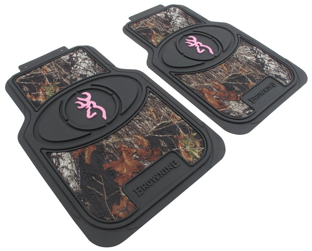 Floor mats front camouflage and pink qty 2 spg floor mats