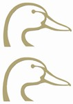 Ducks Unlimited Logo Flat Decals - Gold - Qty 2