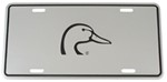 Ducks Unlimited Aluminum License Plate - Black and Chrome