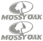 Mossy Oak Emblem Decals - Stainless Steel - Qty 2