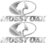 Mossy Oak Emblem Decals - Raised - Chrome Plated ABS Plastic - Qty 2