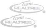 Team Realtree Flat Decal - White - 2 Pack