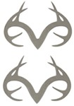 Realtree Outfitters Emblem Decals - Stainless Steel - Qty 2