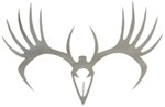 Big Rack Whitetail Skull Tribal Emblems - Stainless Steel - Qty 2
