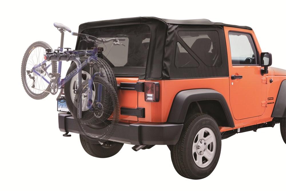 sportrack spare tire bike racks for jeep wrangler. Black Bedroom Furniture Sets. Home Design Ideas