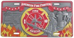 Firefighter Specialty Sport Plate - 3D License Plate