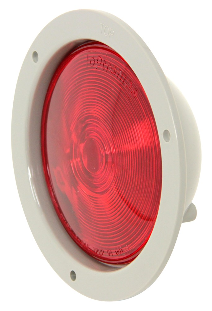 Sealed  4 U0026quot  Round Trailer Stop  Turn And Tail Light  Flange