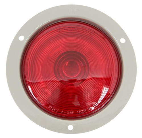 Sealed  4 U0026quot  Round Trailer Stop  Turn And Tail Light  Flange Mount  3