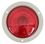"Sealed, 4"" Round Trailer Stop, Turn and Tail Light, Flange Mount, 3-Function"