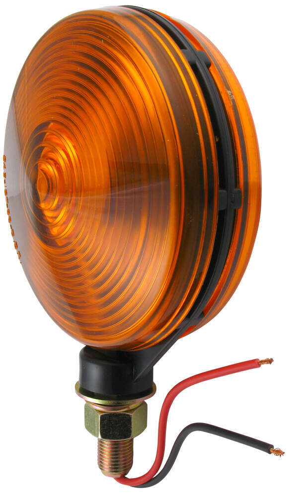 Dual-face Trailer Parking  Turn Signal Light - Post Mount - 4 U0026quot  Round  Amber Optronics
