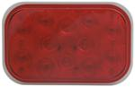 Sealed, Flush Mount Tall Rectangle LED Trailer Stop, Turn and Tail Light, 3-Function, 12 Diode