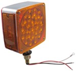 Dual-Face LED Stop/Turn/Tail/Parking Light - 42 Diode - Post Mount - Square - Right Hand - Red/Amber