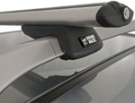 "Rhino-Rack SXB Roof Rack for Raised, Factory Side Rails - Aero Crossbars - 45"" Long - Silver"