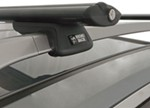 "Rhino-Rack SXB Roof Rack for Raised, Factory Side Rails - Aero Crossbars - 45"" Long - Black"