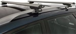 "Rhino-Rack SXB Roof Rack for Raised, Factory Side Rails - Aero Crossbars - 50"" Long - Silver"