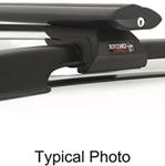 "Rhino-Rack SXB Roof Rack for Raised, Factory Side Rails - Aero Crossbars - 53"" Long - Black"