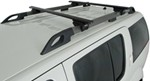"Rhino-Rack SXBS Roof Rack for Raised, Factory Side Rails - Sportz Crossbars - 45"" Long - Black"