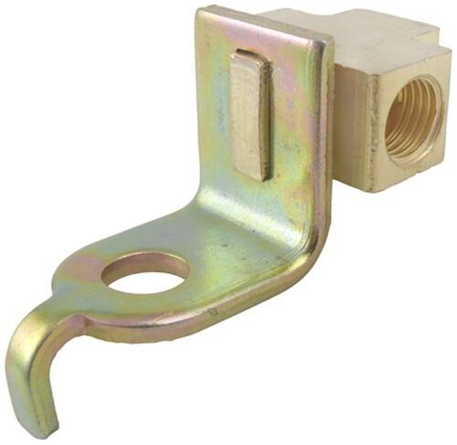 Brake Line Hardware : Titan brake line tee with mounting bracket