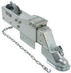"Titan Zinc-Plated Brake Actuator w/ Drop - Drum - 2-5/16"" Ball - Bolt On - 20,000 lbs"
