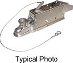 Titan Zinc-Plated Brake Actuator w/ Lockout Shield - Disc - Multi-Fit Ball - Bolt On - 7,000 lbs
