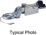 Titan Zinc-Plated Brake Actuator w/ Electric Lockout - Disc - Lunette Ring - Bolt On - 8,000 lbs