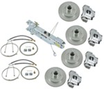 Titan Disc Brake Kit and Swing-Away Actuator w/ Manual Lockout - Tandem, 3,500-lb Axle