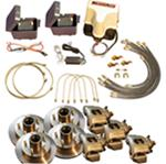 Titan Disc Brake Kit and BrakeRite Electric-Hydraulic Actuator - Tandem, 3,500-lb Axle