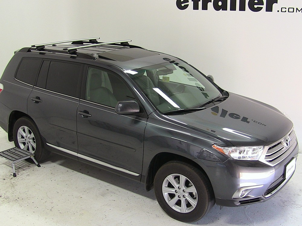 Installation Of A Thule Aeroblade Traverse Roof Rack On A  Thule Roof Rack for 2012 Highlander by Toyota | etrailer.com