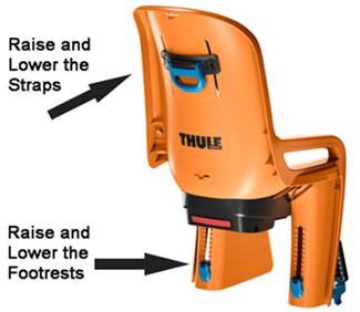 Thule Orange Bike Seat Rear View