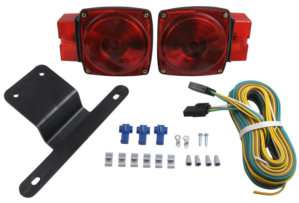 Wiring Harness Kit Trailer Lights : Submersible over quot trailer light kit with wiring