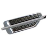 Single Fin Chrome Plated ABS Fender Novelty Air Vent