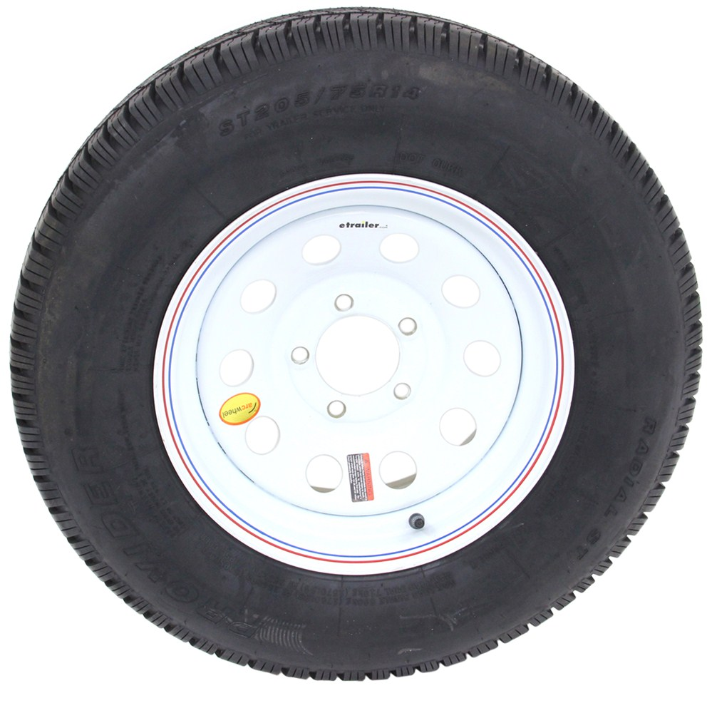 provider st205 75r14 trailer tire w 14 white mod wheel 5 on 4 1 2 lr c taskmaster tires. Black Bedroom Furniture Sets. Home Design Ideas