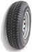 "Taskmaster ST225/75D15 Bias Trailer Tire with 15"" Silver Mod Wheel - 6 on 5-1/2 - Load Range D"