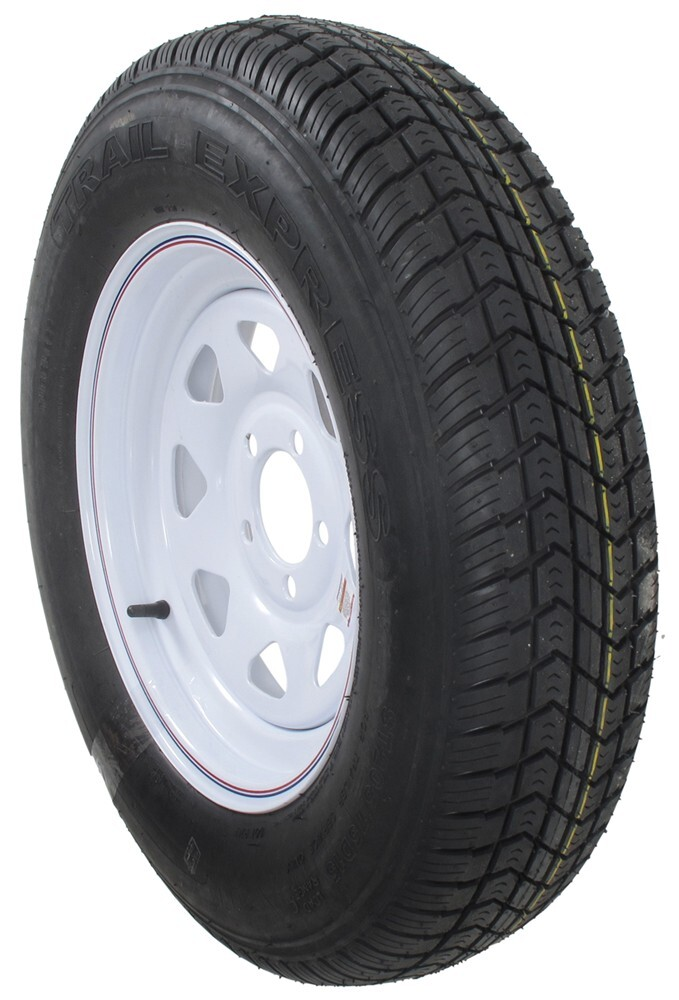 st205 75 d15 bias trailer tire with 15 steel wheel 5 on 4 1 2 load range c redline tires. Black Bedroom Furniture Sets. Home Design Ideas