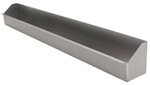 "Tow-Rax Utility Tray w/ Raised Sides - Aluminum - 33-1/4"" Long x 3-3/4"" Deep"