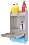 "Tow-Rax Aluminum Storage Cabinet w/ Folding Tray - 23"" Tall x 12"" Wide - Machined Finish"