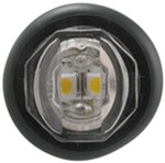 "Uni-Lite LED Mini Utility Light - 2 Diode - Sealed - 1"" Round - White w/ Clear Lens"