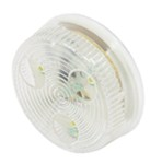 Clear LED Round Utility Light - Flush Mount -  2""