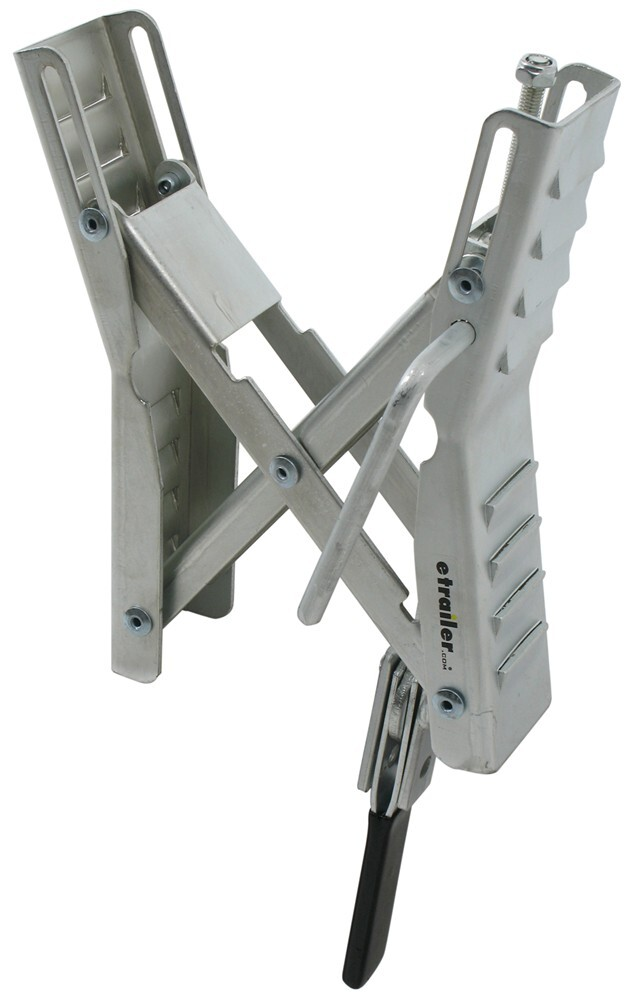 """Camper Wheel Chocks >> Ultra-Fab Chock and Lock Wheel Stabilizer for Tandem-Axle Trailers and RVs - Up to 5-1/4"""" Wide ..."""