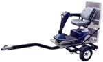 "Magneta Wheelchair and Electric Scooter Trailer with Spring Axle - 8"" Wheels/Tires - 1,200 lbs"