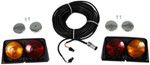 Wesbar Agriculture Light Kit w Brake Light Function, 6-Pole Plug - Driver/Passenger Side - Amber/Red